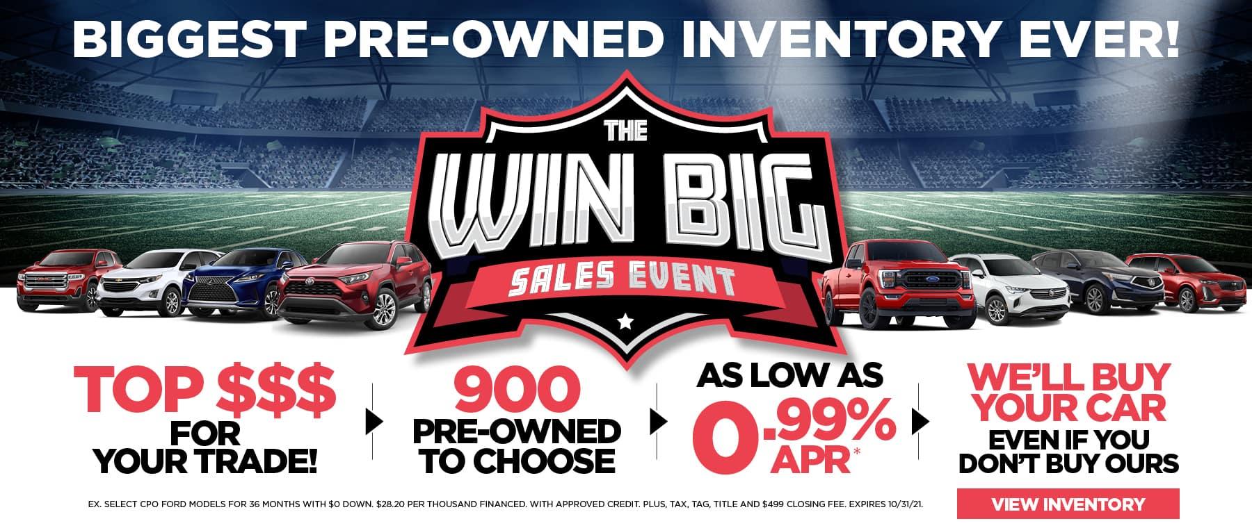 Win Big Sales Event