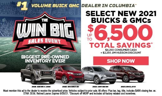 Win Big Sales Event - Buick and GMC