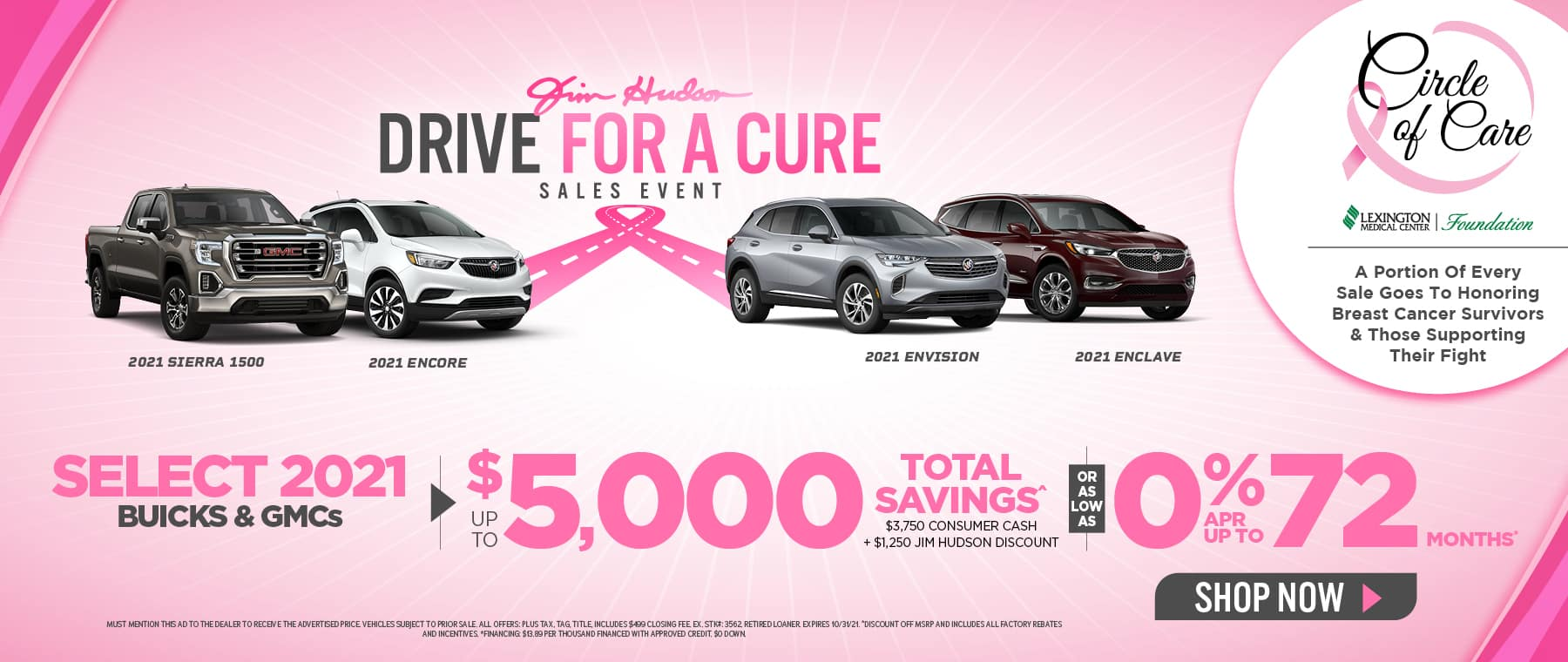 Drive For a Cure - JHS Buick GMC Hero Oct 21