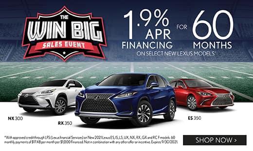 The Win Big Sales Event - 1.9% APR