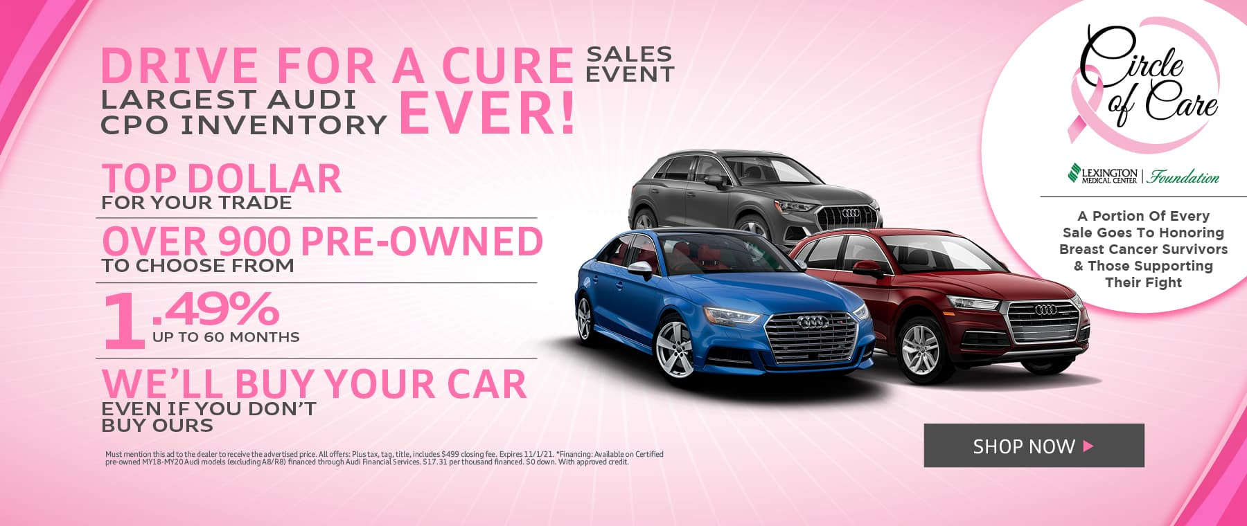 Drive For a Cure - JAC Hero Oct 21