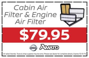Cabin Air Filter & Engine Air Filter $79.95