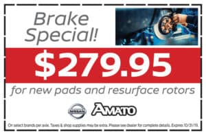 Brake Special! $279.95 For New Pads & Resurface Rotors