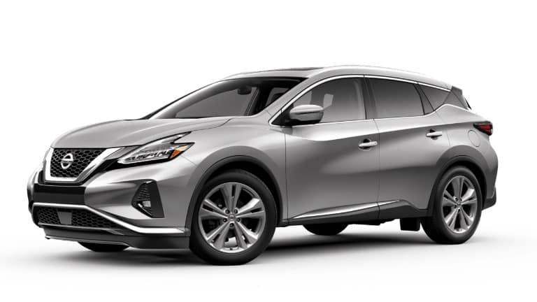 A silver 2019 Nissan Murano Platinum
