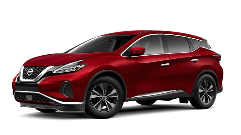 A red 2019 Nissan Murano S