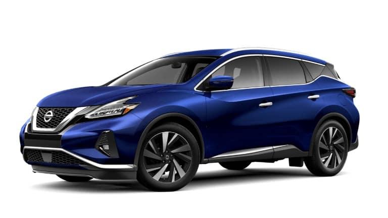 A blue 2019 Nissan Murano SL