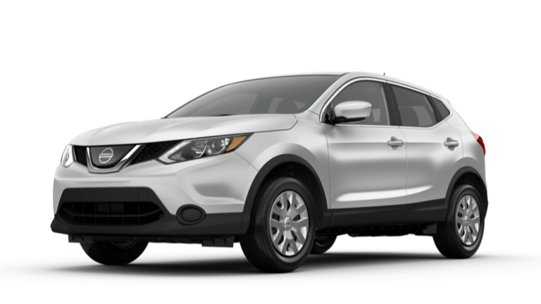 A silver 2019 Nissan Rogue Sport S