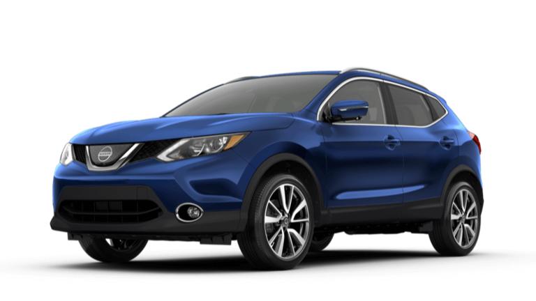 A blue 2019 Nissan Rogue Sport SL