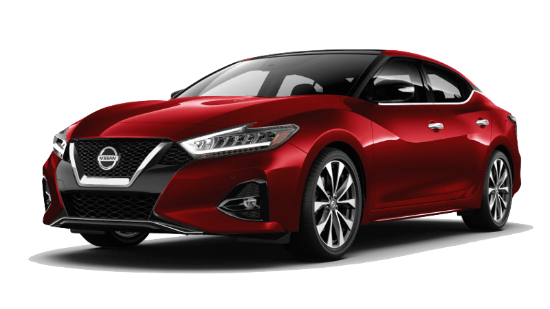 A red 2020 Nissan Maxima