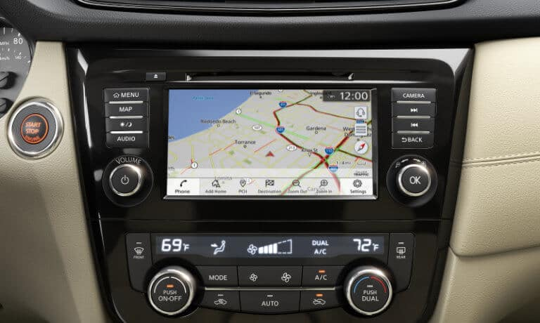The navigation available on the Nissan Rogue