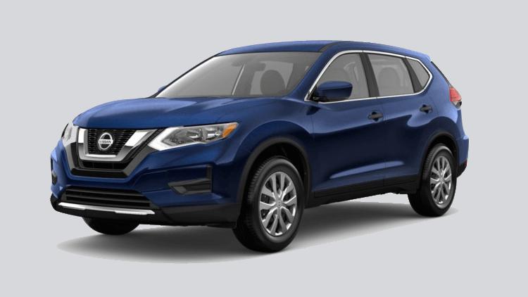 A blue 2020 Nissan Rogue S