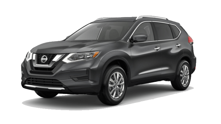A silver 2020 Nissan Rogue SV