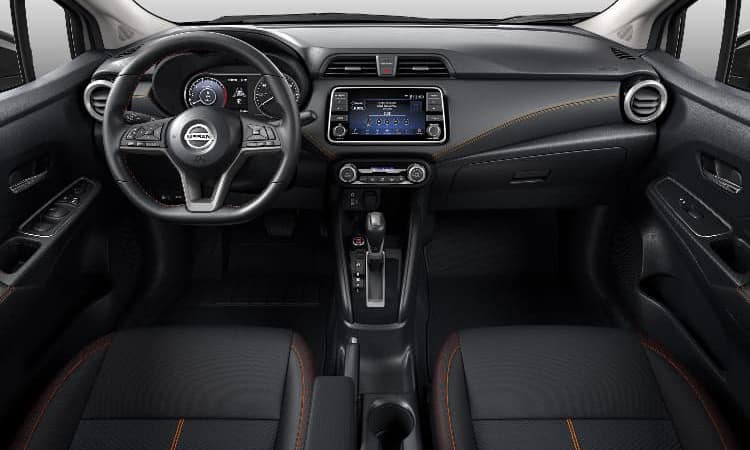 2020 Nissan Versa Interior in Charcoal Sport Cloth