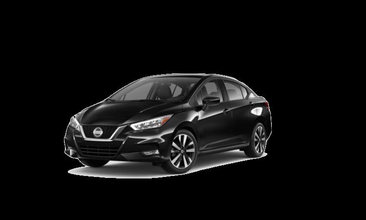 A blue 2020 Nissan Versa SR