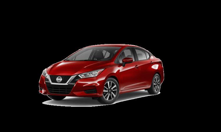 A blue 2020 Nissan Versa SV