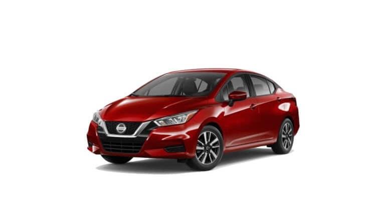 2020 Nissan Versa SV in Scarlet Ember Tintcloth