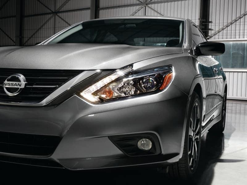 A silver 2017 Nissan Altima