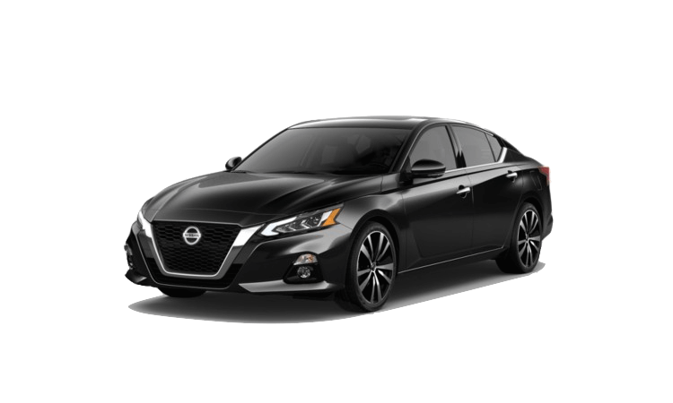 A black 2020 Nissan Altima Platinum