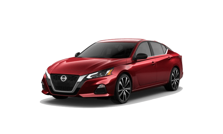 A red 2020 Nissan Altima SR