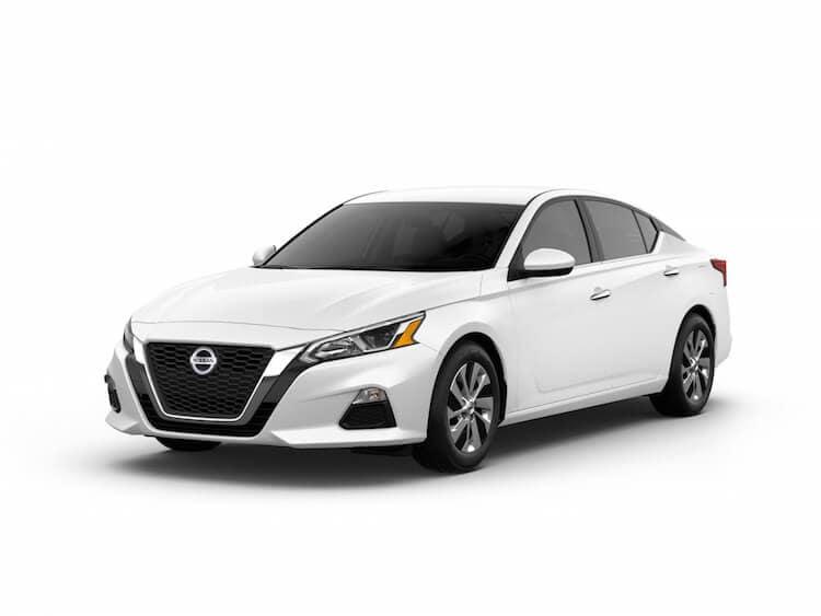 A Glacier White 2020 Nissan Altima