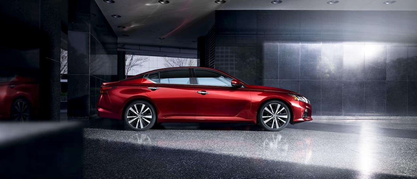A red 2020 Nissan Altima VC-Turbo