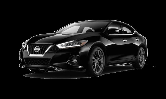 A black 2020 Nissan Maxima Platinum Reserve