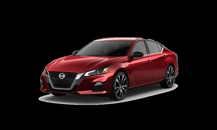 A red 2020 Nissan Maxima SR