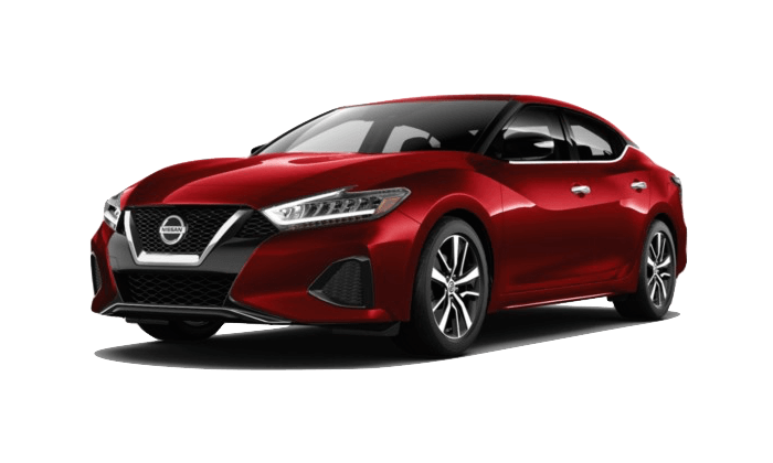 A red 2020 Nissan Maxima SV