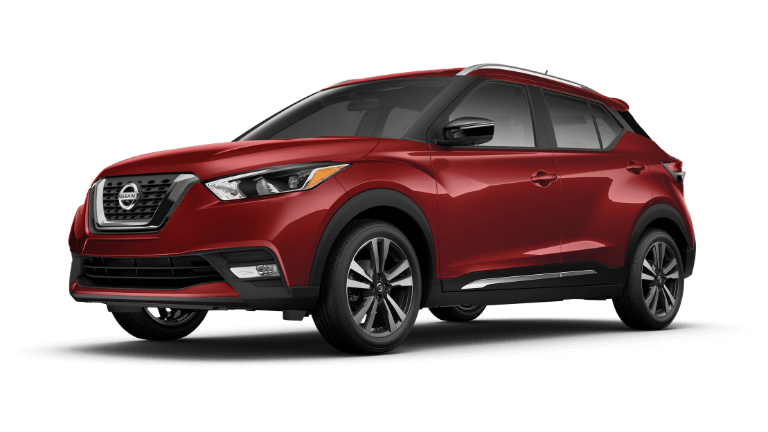 A red 2019 Nissan Kicks