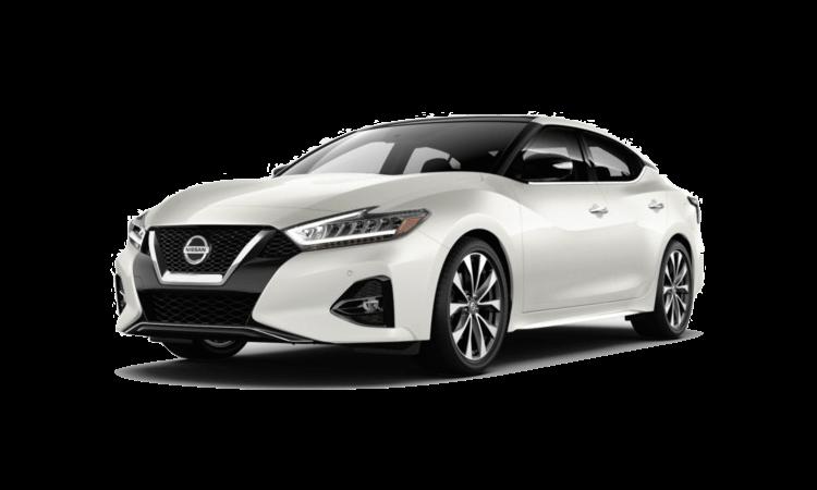 A white 2020 Nissan Maxima Platinum