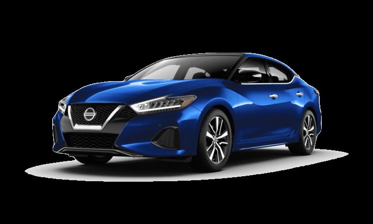 A blue 2020 Nissan Maxima