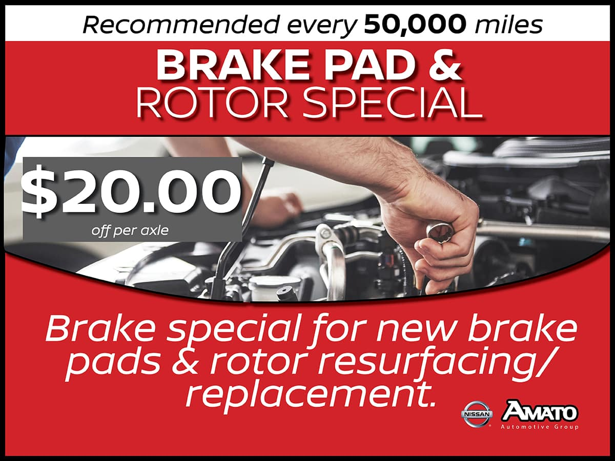 Nissan Brake Pad Replacement Service Special Coupon