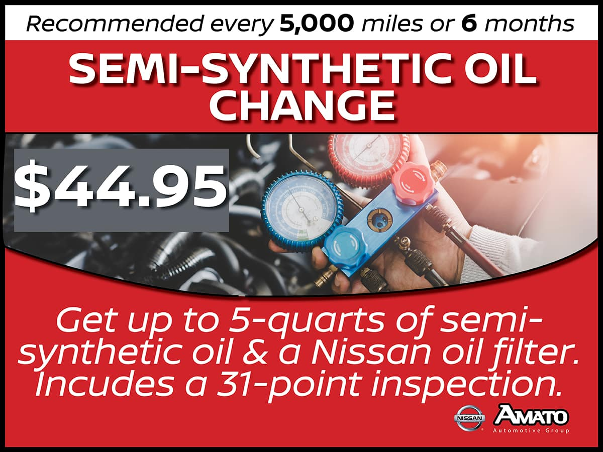 Semi-Synthetic Oil Change Service Interval