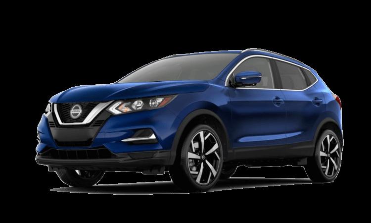 A blue 2020 Nissan Rogue Sport SL