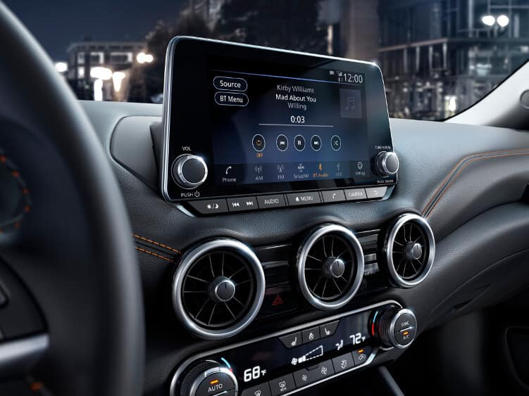 The infotainment system on the 2020 Nissan Sentra