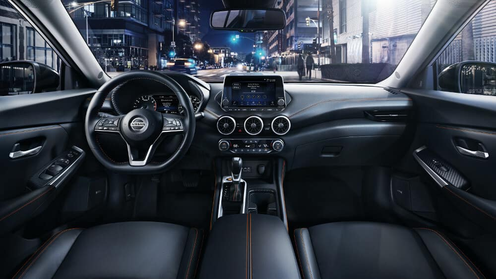The dashboard on the 2020 Nissan Sentra