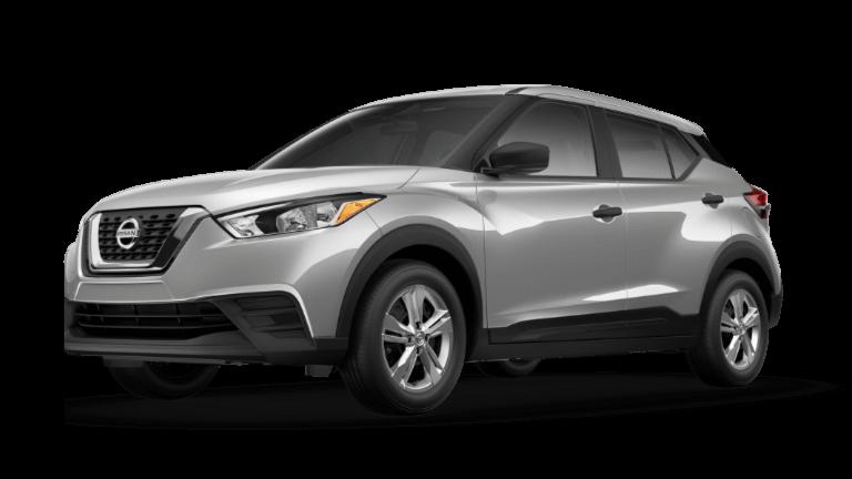 A silver 2020 Nissan Kicks S