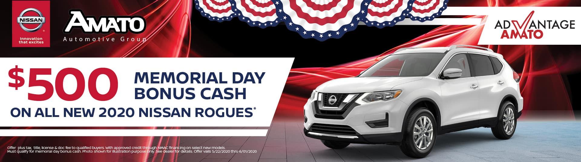 Memorial Day Bonus Cash Nissan Rogue