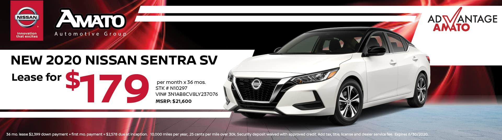 2020 Nissan Sentra Lease Deal