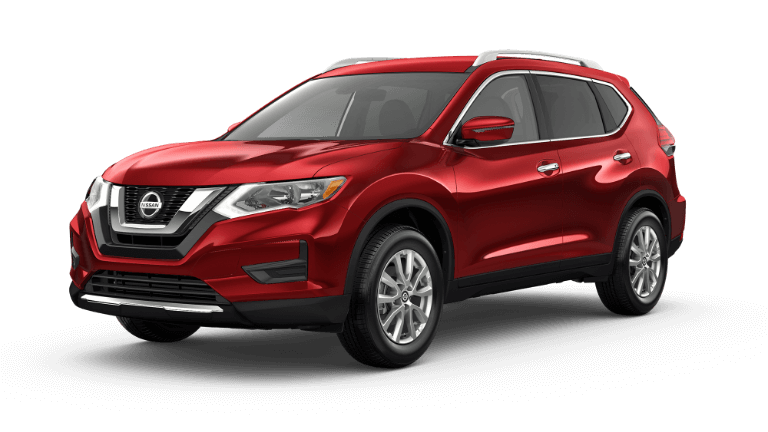 2020 Nissan Rogue SV in scarlet red