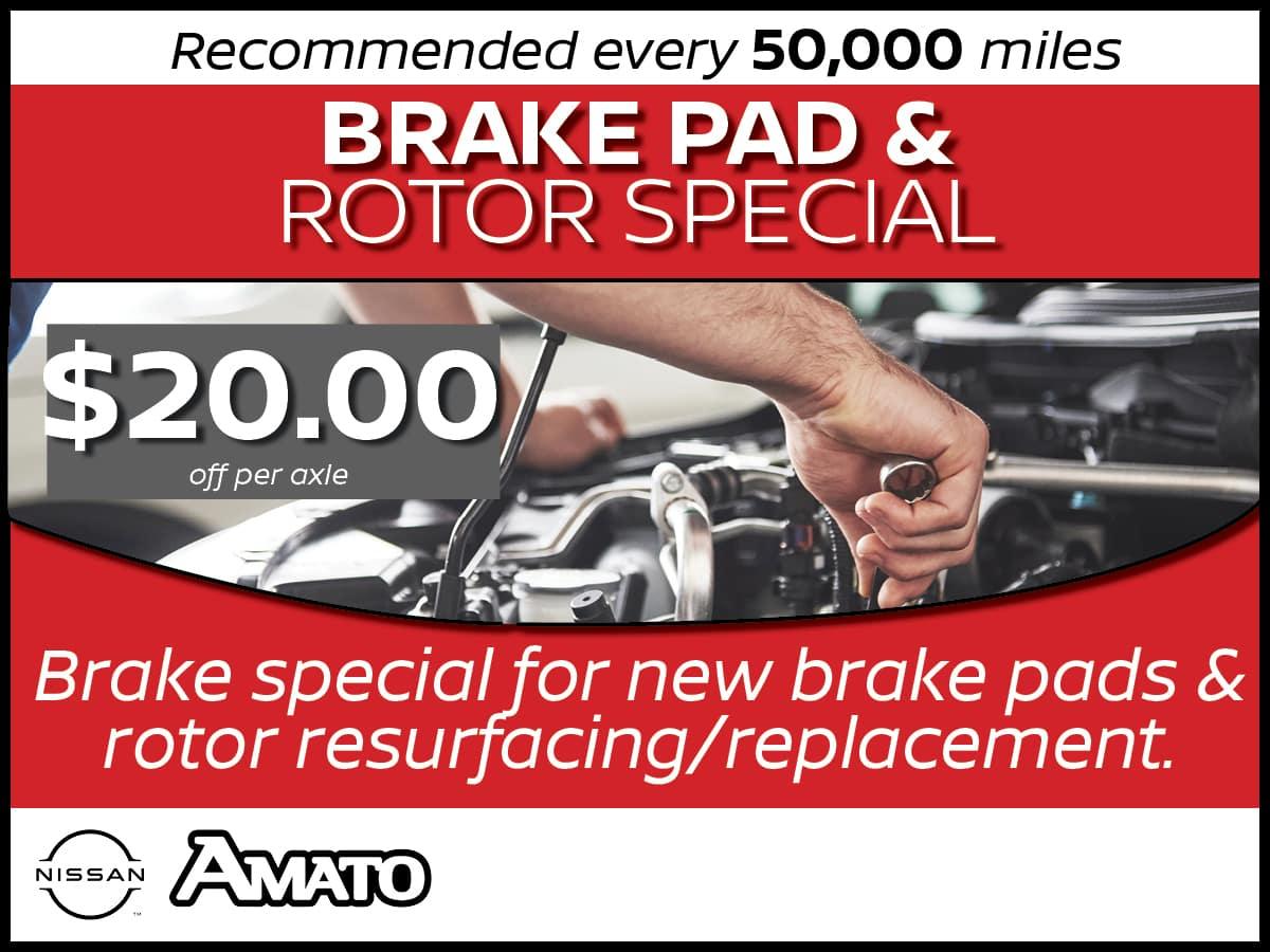 Brake Pad & Rotor Service Spedcial Coupon