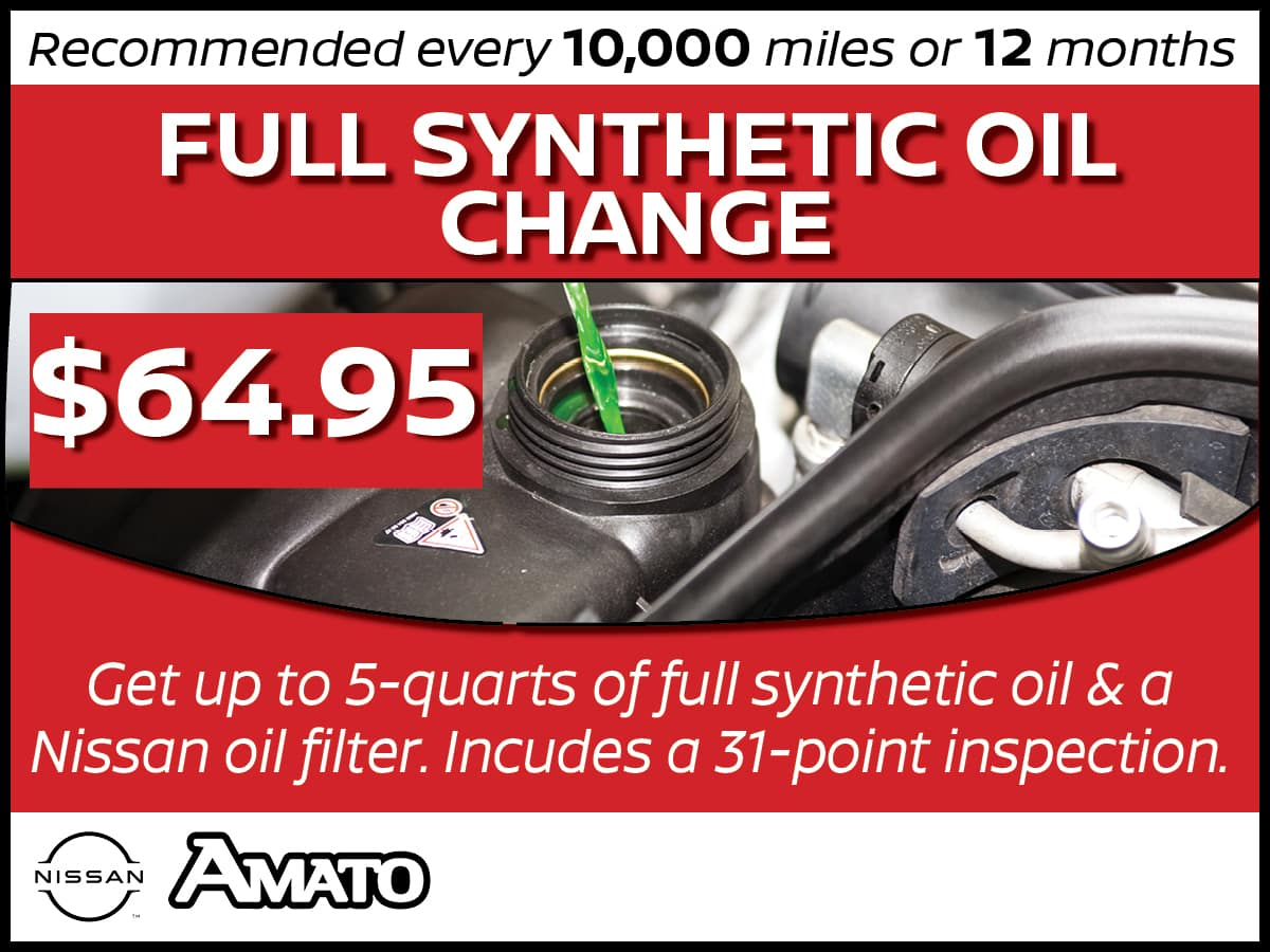 Full Synthetic Oil Change, Tire Rotation, and Air Filter