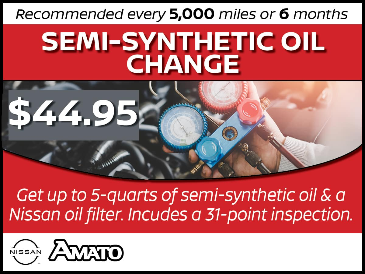 Semi-Synthetic Oil Change Service Special COupojn