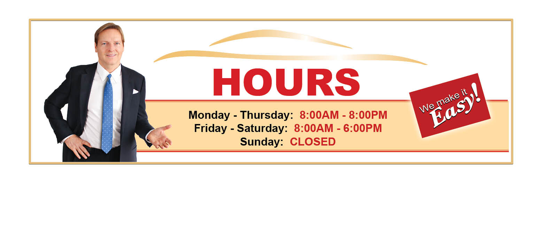 Kelly Honda Business Hours of Operation (Closed Sunday)