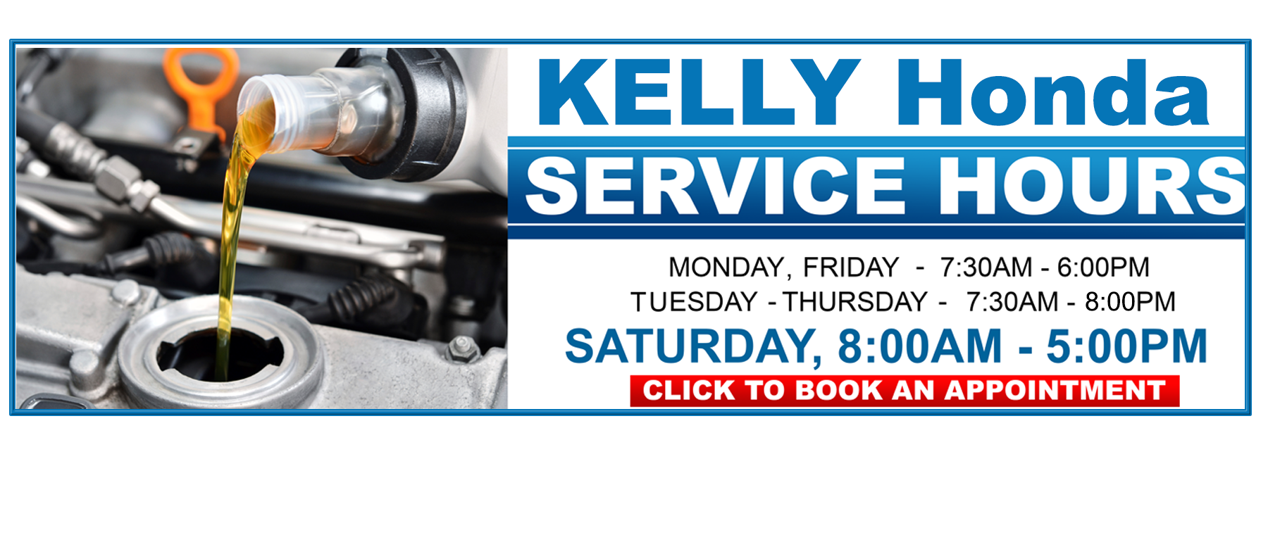 Kelly Honda Service Hours in Lynn, MA