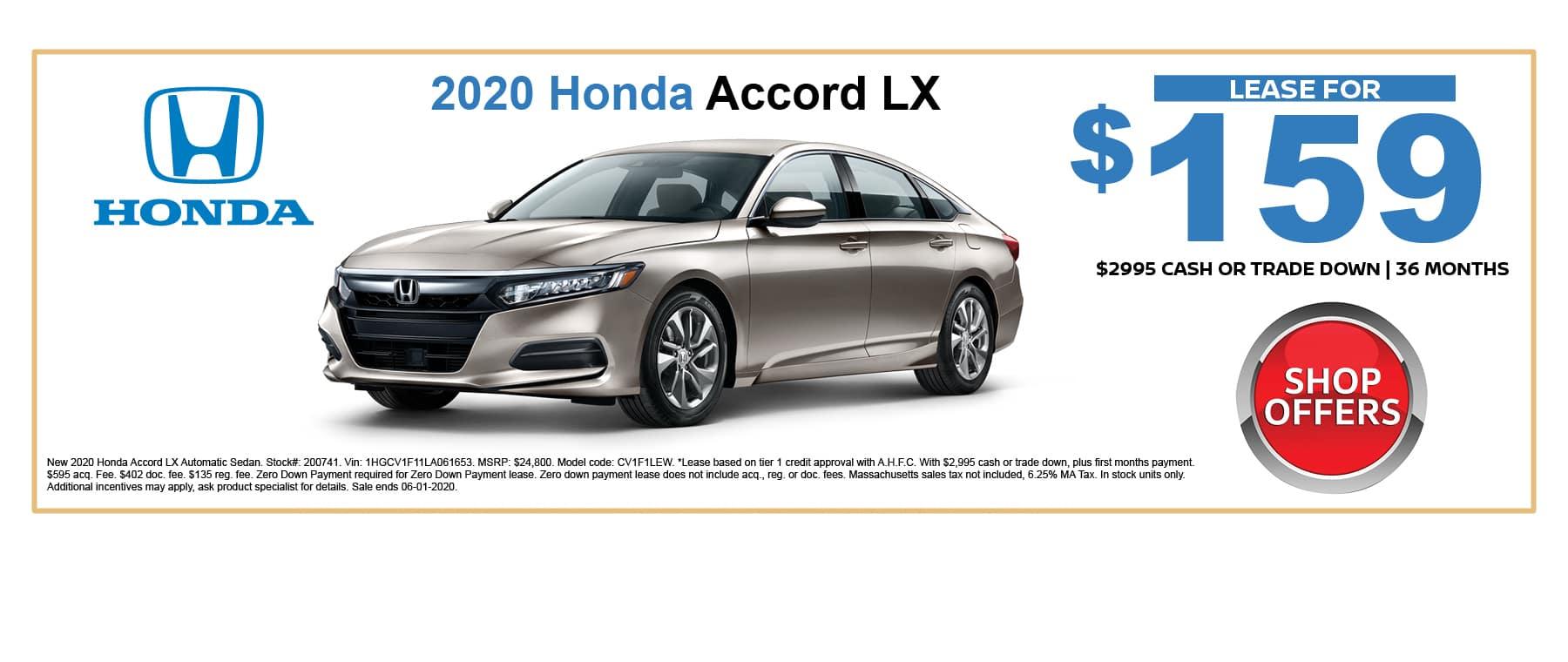 2020 Accord LX Lease Special Boston MA