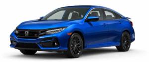 2021 Honda Civic Si Sedan in Bright Blue