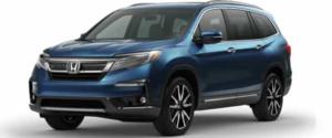 2021 Honda Pilot SUV in Light Blue