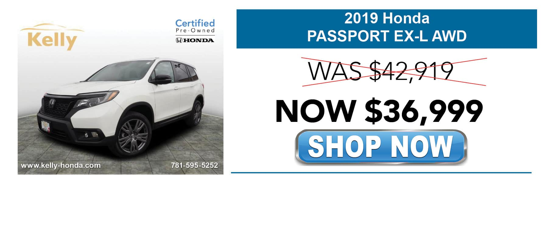 2019 Certified Pre-Owned Honda Passport EX-L Now $36,999
