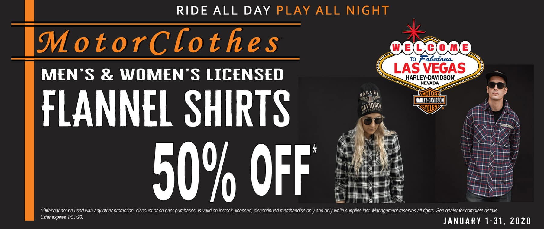MotorClothes Men's & Women's Flannel Shirts 50% Off